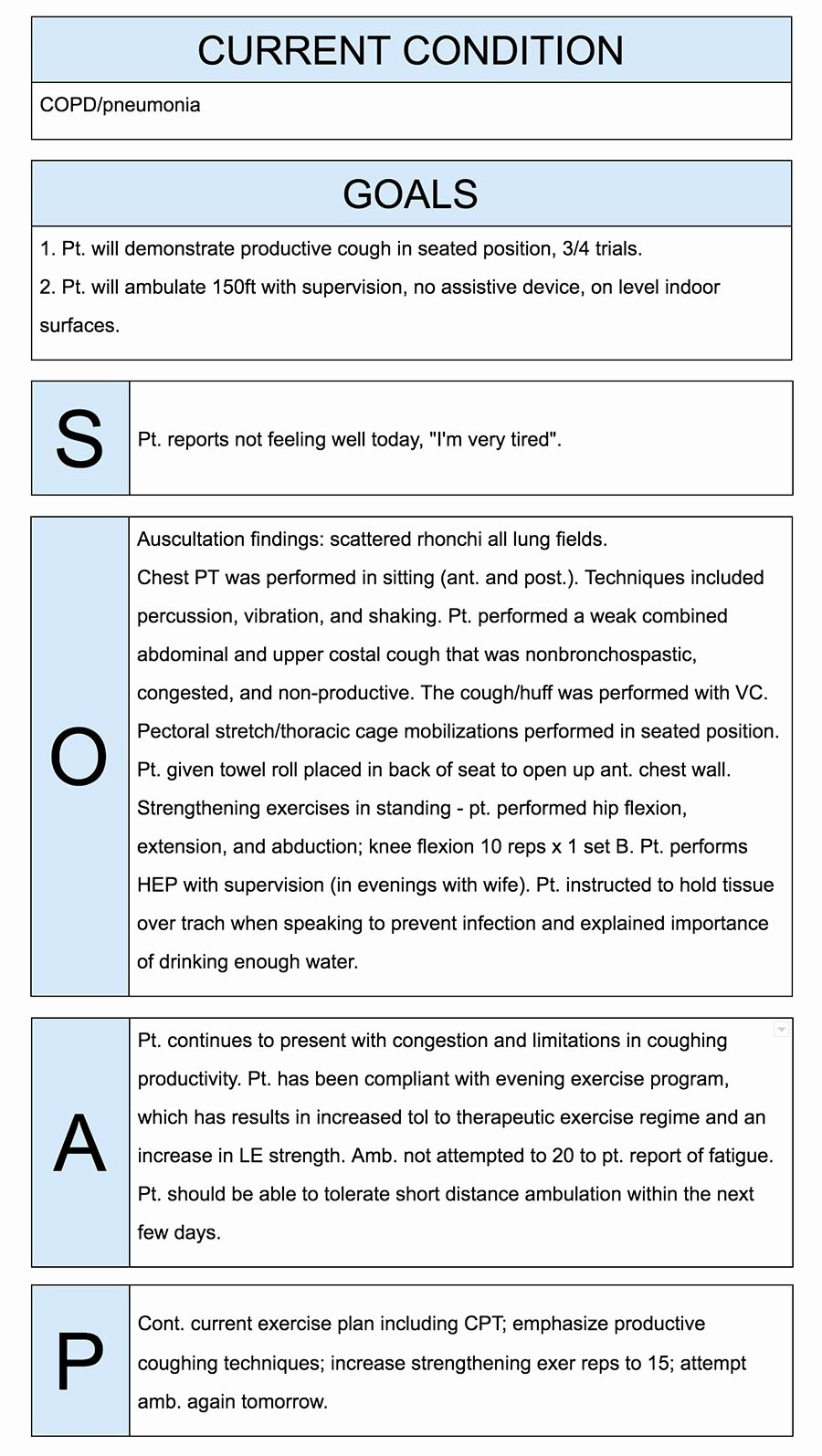 Medical soap Note Template Best Of Physical therapist soap Notes Example Quotes
