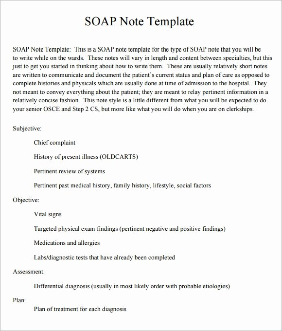 Medical soap Note Template New soap Note Template 10 Download Free Documents In Pdf Word
