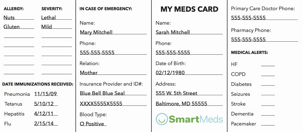Medication Card for Wallet Best Of Medication Munication — Laura Brewer Yarnall