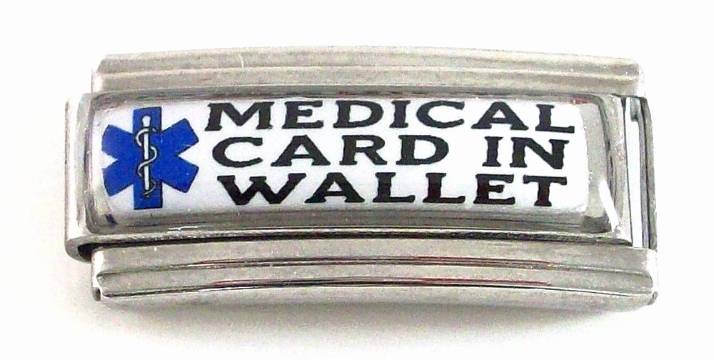 Medication Card for Wallet Lovely Medical Card In Wallet Id Alert Italian Charm for Bracelet