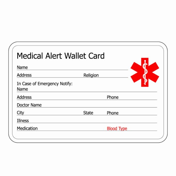 Medication Card for Wallet Unique Novelty Titanium Medical Id Bracelets for Men with Free