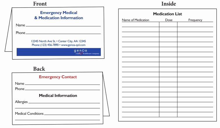 Medication Cards for Wallet Beautiful Medication Wallet Card Wallet Design