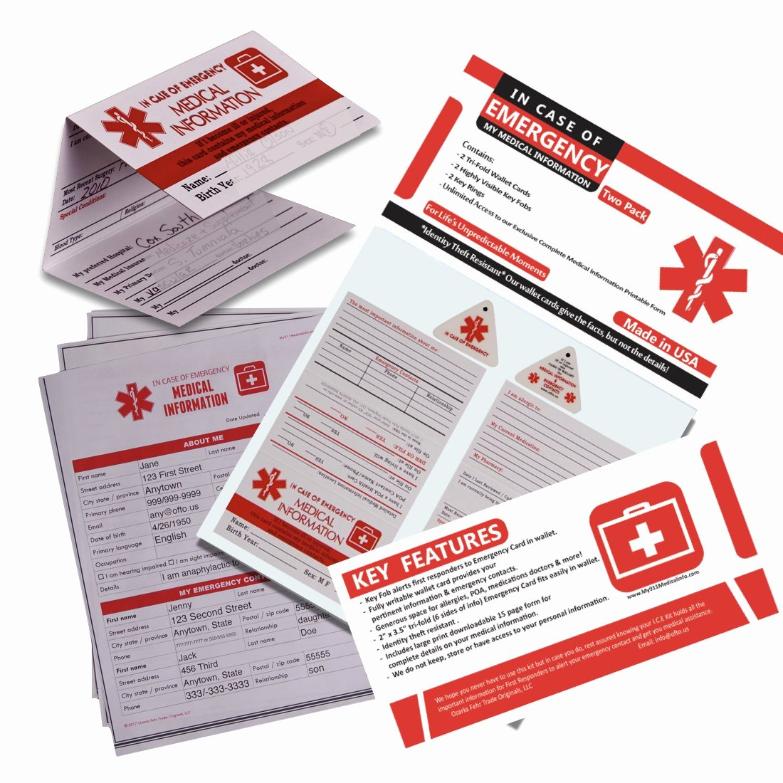 Medication Cards for Wallet Best Of Amazon Emergency Medical Information Id Card 4 Pack