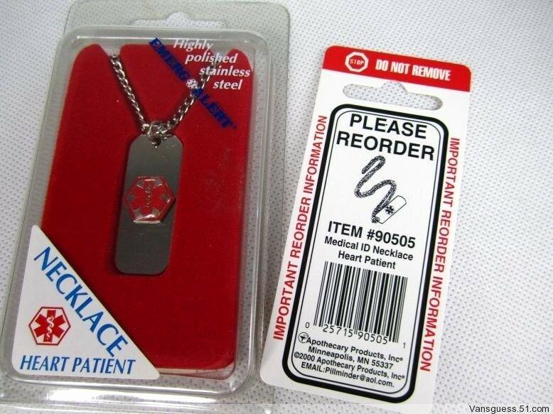 Medication Cards for Wallet Elegant Emerg & Alert Medical Identification Necklace Wallet Card