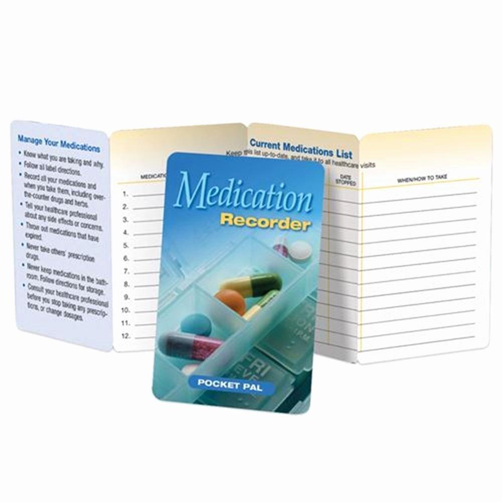 Medication Cards for Wallet Fresh Medication Recorder Pocket Pal
