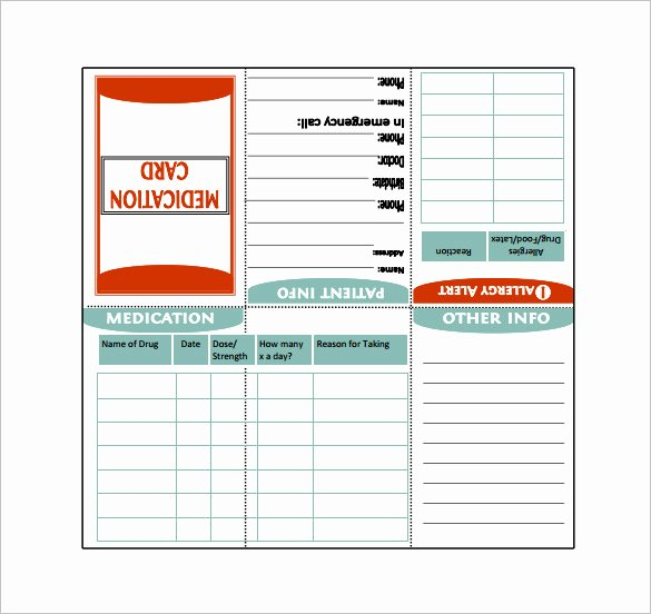 Medication Cards for Wallet Inspirational 7 Medication Card Templates Doc Pdf