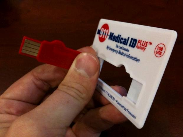 Medication Cards for Wallet Unique Review 911 Medical Id Card Features Usb Connection Fits