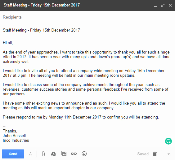 Meeting Invitation Email Sample Inspirational Invitation Letter Examples and Templates for Business
