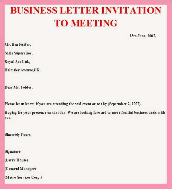 Meeting Invitation Email Sample Lovely 38 Meeting Invitation Designs Psd Ai Word Indesign