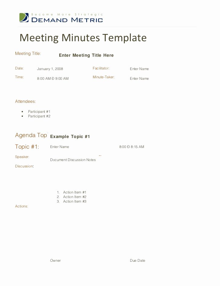 Meeting Minutes Agenda Template Best Of Meeting Minutes Template