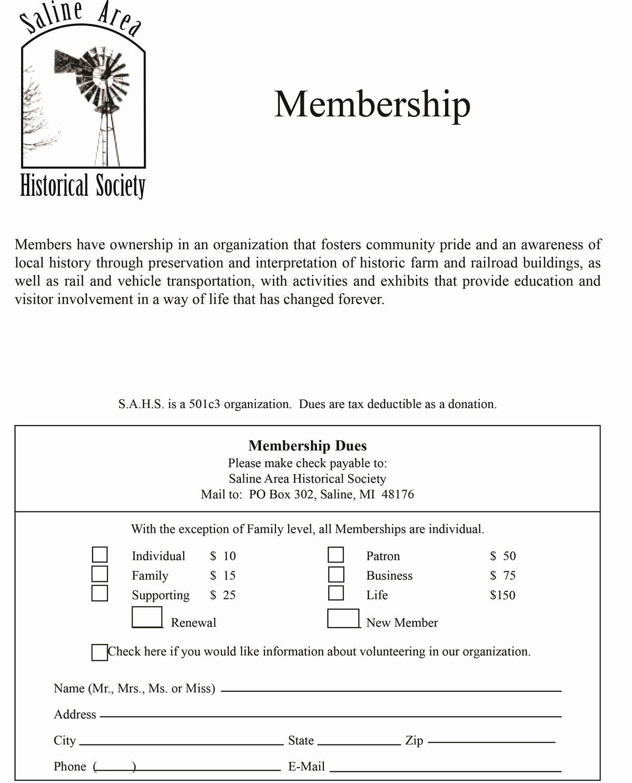 Membership Application form Sample Inspirational Membership form