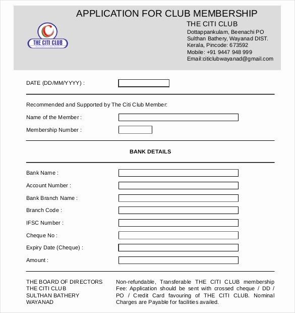 Membership Application form Sample Luxury 15 Sample Club Application Templates Pdf Doc