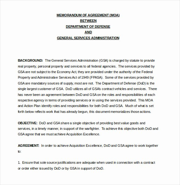 Memorandum Of Agreement Samples Best Of 16 Memorandum Of Agreement Templates Pdf Doc