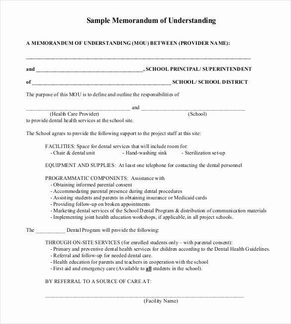 Memorandum Of Agreement Samples Elegant 41 Memorandum Of Understanding Templates Pdf Google
