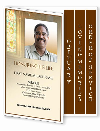 Memorial Program Template Free Beautiful Funeral Program Template