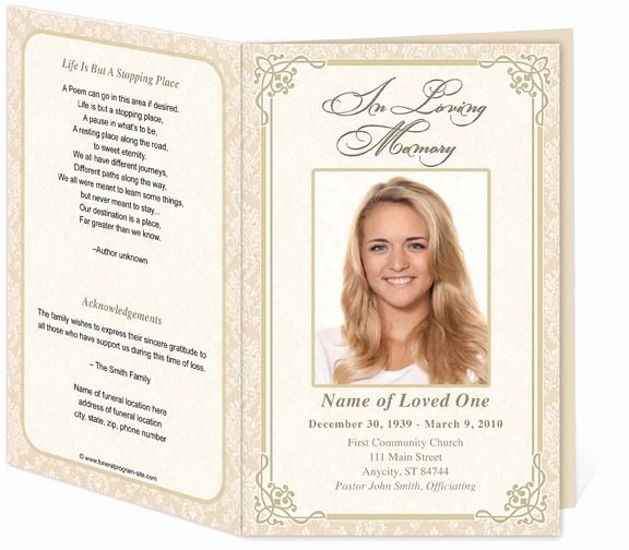 Memorial Program Template Free Best Of 17 Best Images About Memorial Brochure and Scripts On