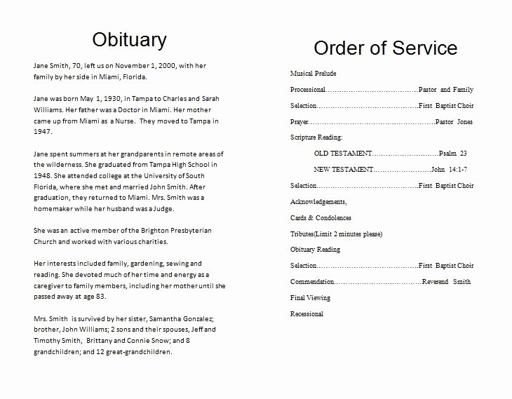 Memorial Program Template Free Best Of the Funeral Memorial Program Blog Free Funeral Program
