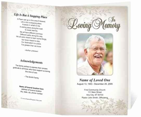 Memorial Program Template Free Fresh 21 Free Free Funeral Program Template Word Excel formats