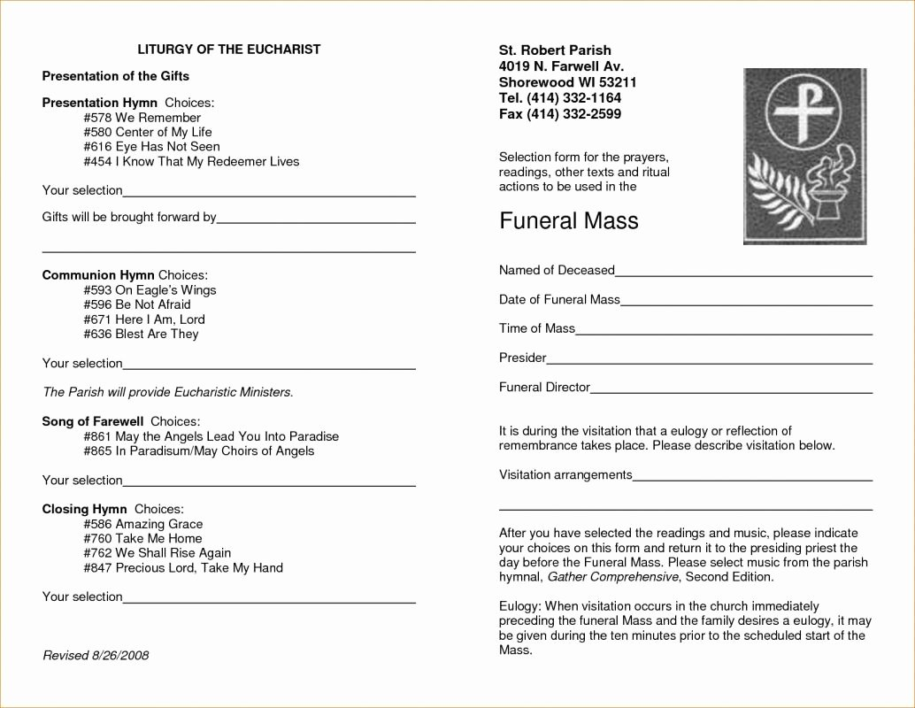 Memorial Program Template Free Fresh Free Memorial Service Program Template
