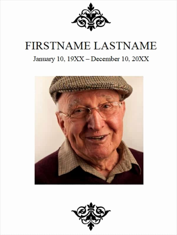 Memorial Program Template Free Lovely 21 Free Free Funeral Program Template Word Excel formats