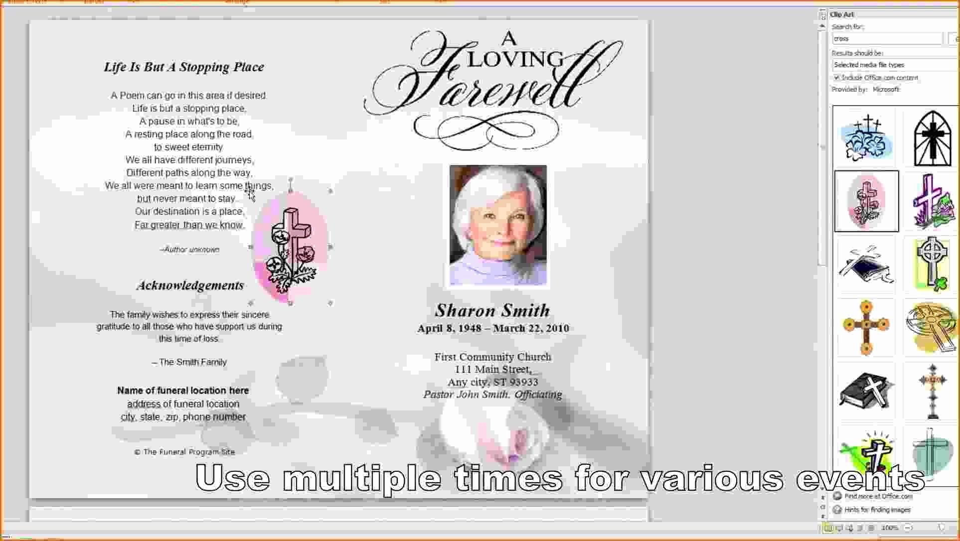 Memorial Program Template Free Lovely 8 Free Funeral Program Template Microsoft Word