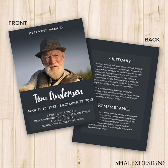 Memorial Program Template Free New Our Favorite Actually Free Funeral Program Templates