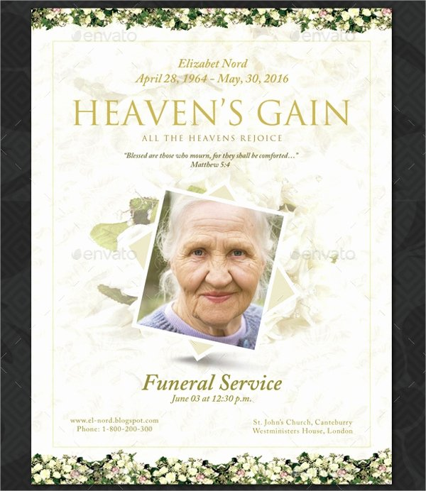 Memorial Program Template Free Unique 16 Funeral Memorial Program Templates Psd Ai Vector