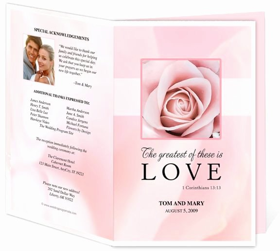 Memorial Program Template Free Unique Free Funeral Program Templates