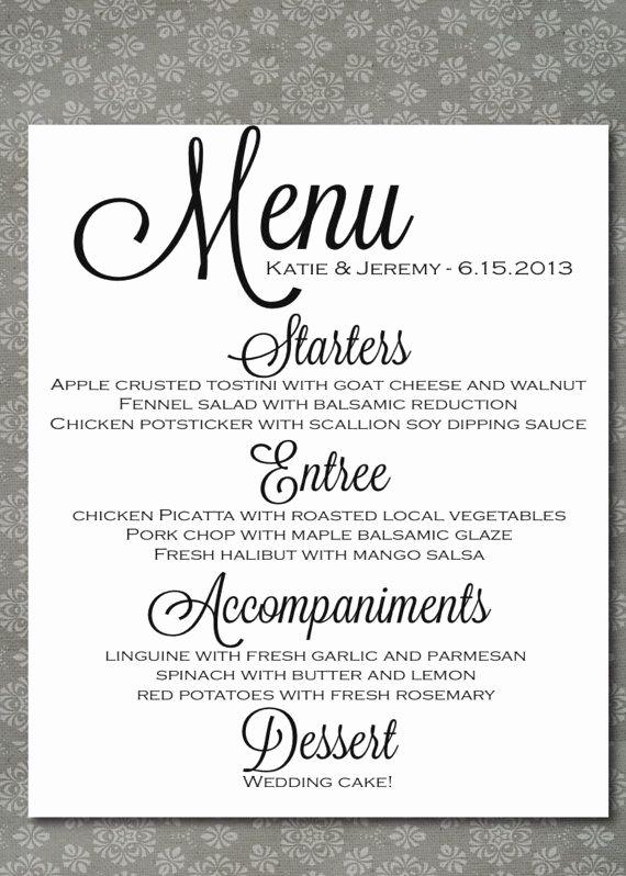 Menu Card for Buffet Wedding Beautiful 1000 Ideas About Wedding Buffet Menu On Pinterest