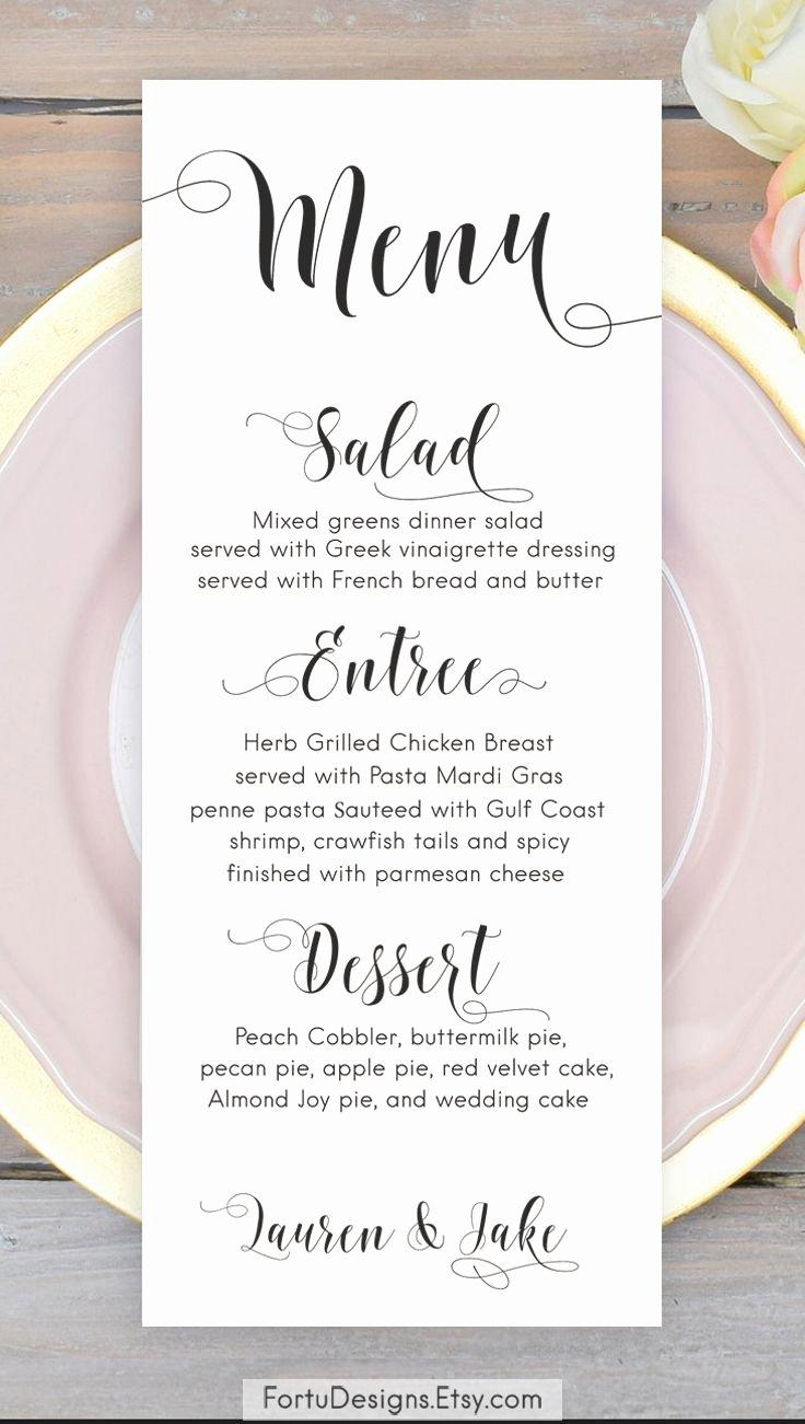 Menu Card for Buffet Wedding Beautiful Best 25 Wedding Menu Cards Ideas On Pinterest