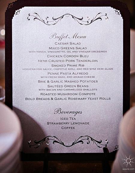 Menu Card for Buffet Wedding Elegant Best 25 Wedding Buffet Menu Ideas On Pinterest