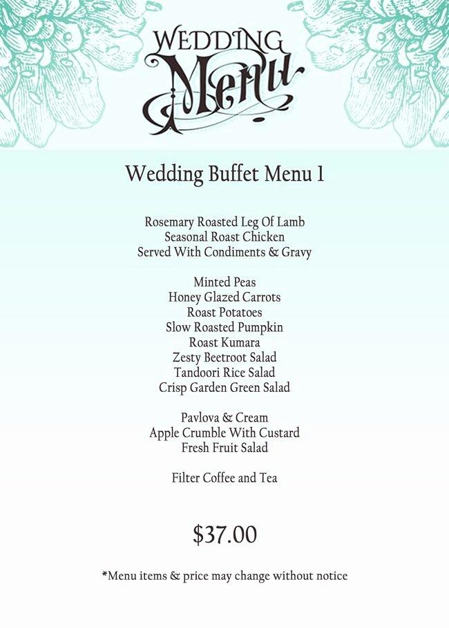 Menu Card for Buffet Wedding Inspirational 1000 Ideas About Wedding Buffet Menu On Pinterest