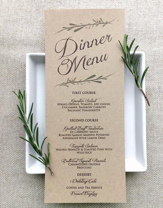 Menu Card for Buffet Wedding Luxury Gluten Free Wedding Ideas In athens Georgia