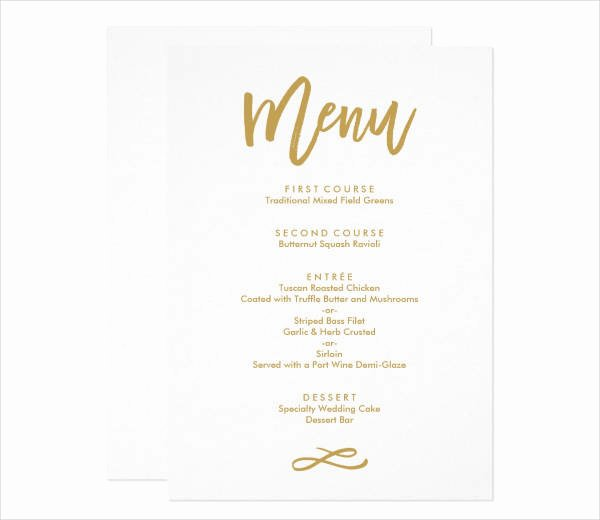 Menu Card for Buffet Wedding New 10 Wedding Menu Cards Psd Eps Vector