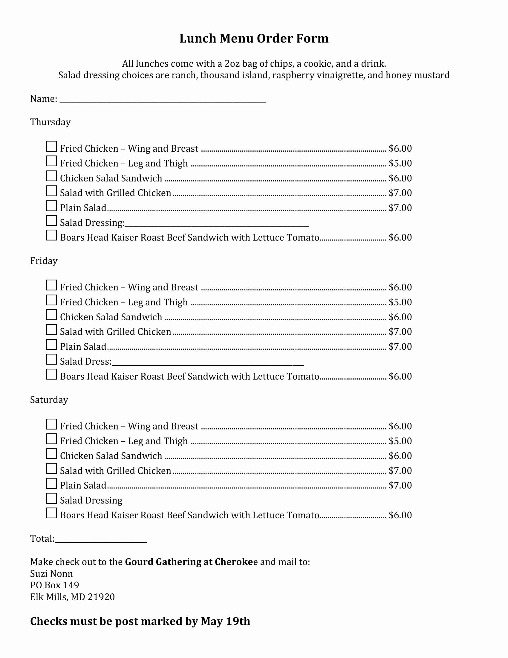 Menu order form Template Unique Free 29 Menu forms In Pdf