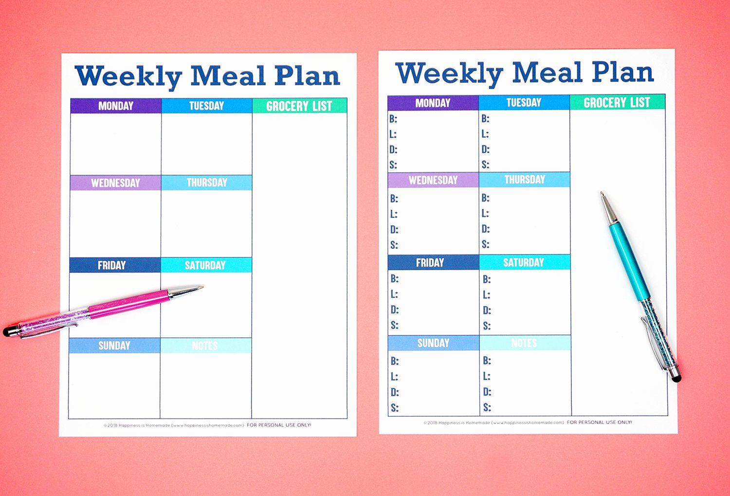 Menu Planner Template Excel Awesome Printable Weekly Meal Planner Template Happiness is Homemade