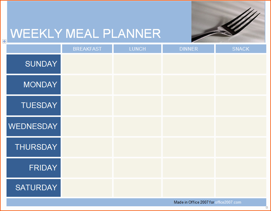 Menu Planner Template Excel Beautiful 3 Daily Meal Planner Template Bookletemplate