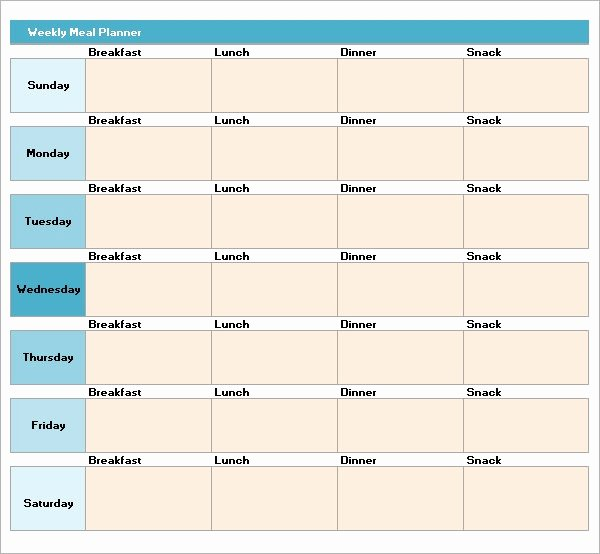 Menu Planner Template Excel Best Of Meal Planning Template 17 Download Free Documents In Pdf