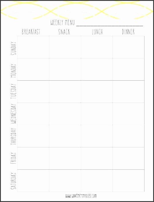 Menu Planner Template Excel Fresh 9 Free Weekly Meal Planner Layout In Excel format