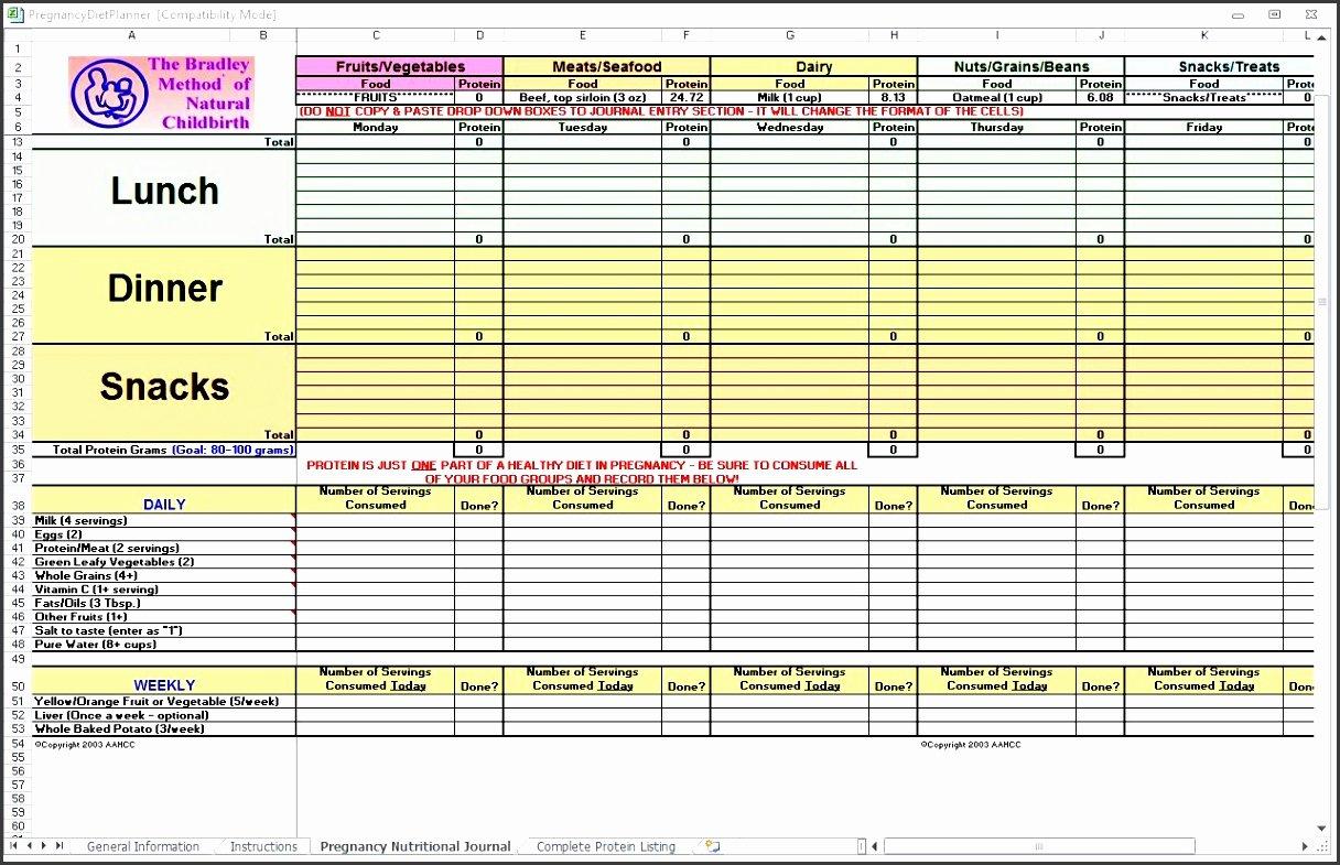 Menu Planner Template Excel Inspirational 10 Monthly Meal Planner In Excel Sampletemplatess