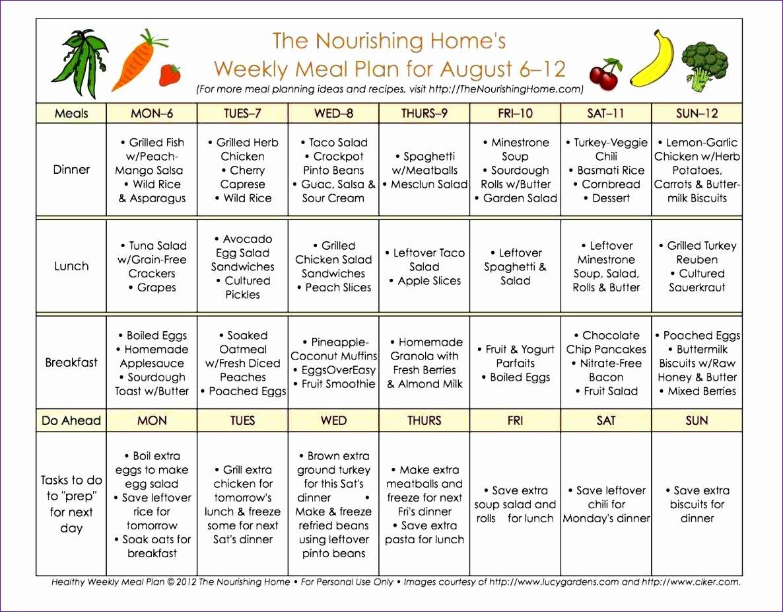 Menu Planner Template Excel Unique 6 Monthly Meal Planner Template Excel Exceltemplates