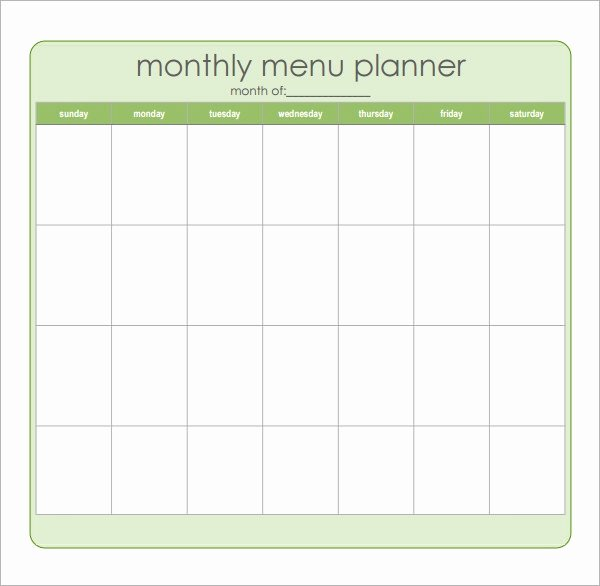 Menu Planner Template Excel Unique Free 17 Meal Planning Templates In Pdf Excel