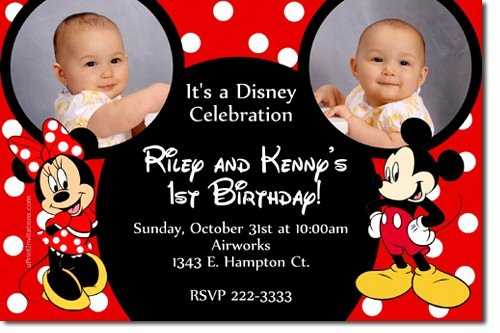 Mickey and Minnie Mouse Invitations Unique Free Printable Mickey and Minnie Twin Birthday Invitations