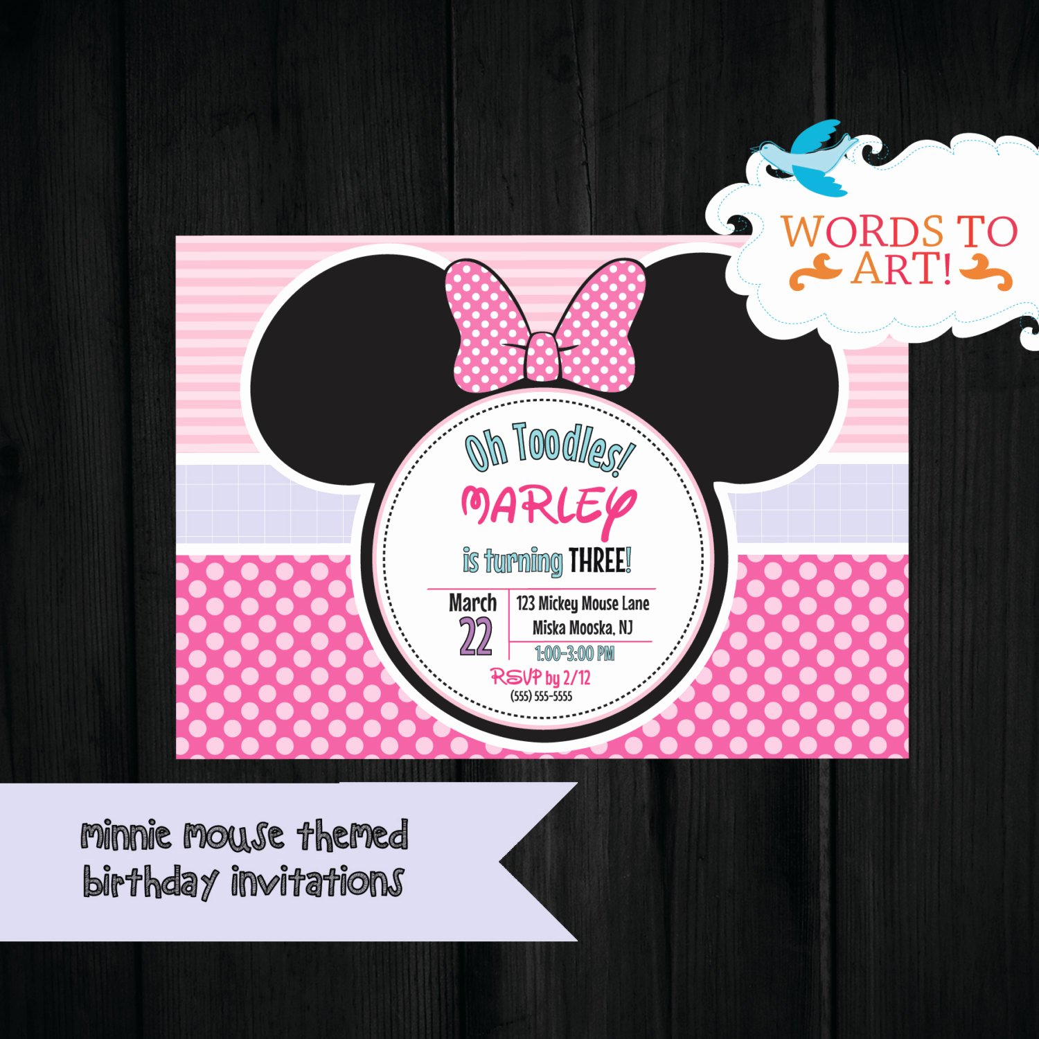 Mickey and Minnie Party Invitations Best Of Custom Minnie Mickey Mouse Birthday Party Invitations Made