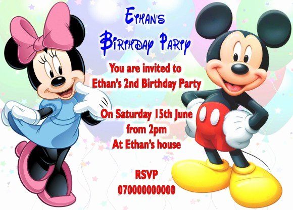 Mickey and Minnie Party Invitations Luxury Mickey and Minnie Mouse Birthday Invitations