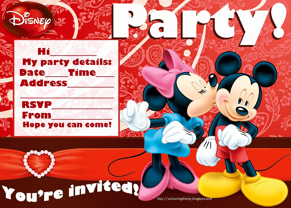 Mickey and Minnie Party Invitations Luxury Wedding Accessories Ideas