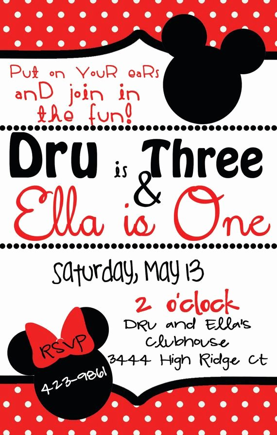 Mickey and Minnie Party Invitations Unique 25 Best Ideas About Joint Birthday Parties On Pinterest