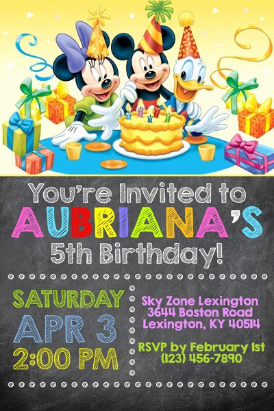 Mickey and Minnie Party Invitations Unique Mickey Mouse Clubhouse Invitations
