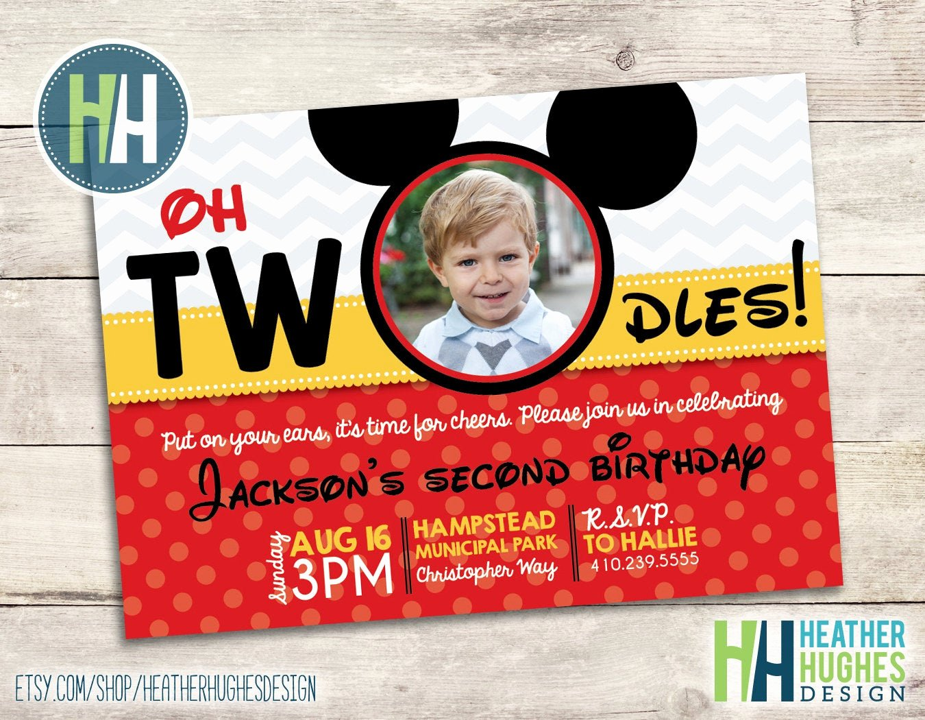 Mickey Mouse 2nd Birthday Invitations Awesome Boy Mickey Mouse Birthday Invite 2nd Birthday Oh toodles