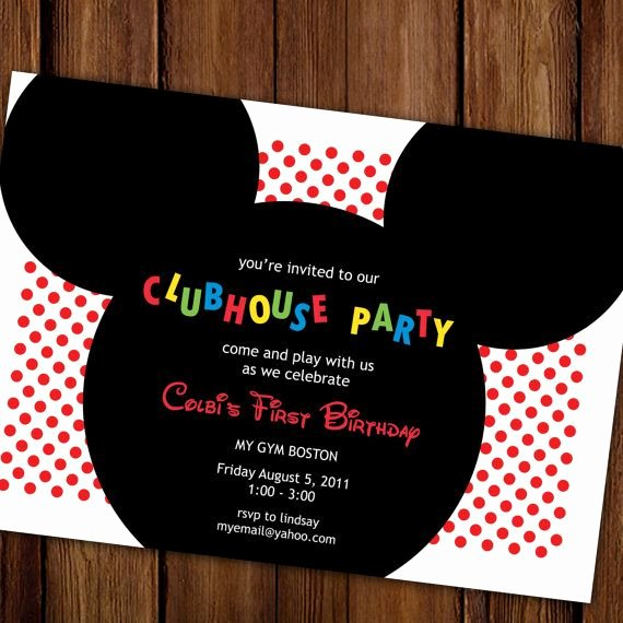 Mickey Mouse 2nd Birthday Invitations Best Of 1000 Images About 2nd Birthday Party Mickey Mouse On